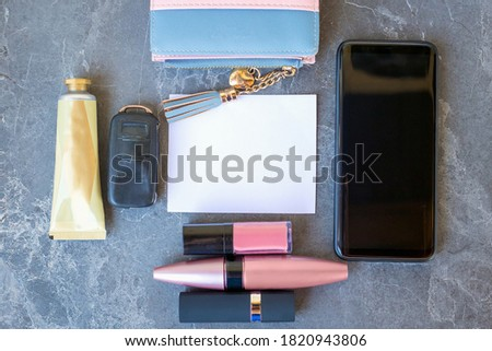 Beautiful woman leather wallet the necessary accessory for every Stock photo © JohnKasawa