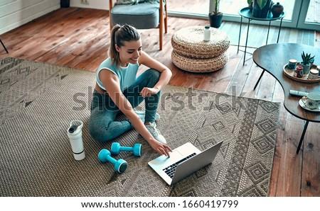 woman and fitness stock photo © kurhan