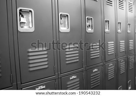 student lockers university school campus hallway storage locker stock photo © cboswell