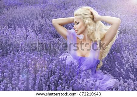 Sexy · блондинка · зеленый · луговой · ромашка · молодые - Сток-фото © fanfo