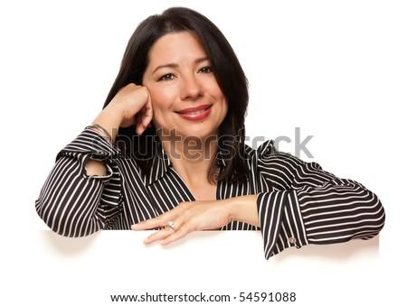 vonzó · több · nemzetiségű · nő · dől · fehér · felirat - stock fotó © feverpitch