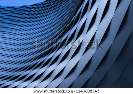 abstract building interior iron and glass walls with sky view stock photo © slunicko