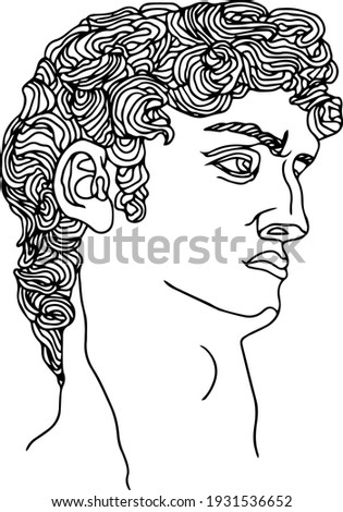 Bust of Michaelangelo, vintage engraving Stock photo © Morphart