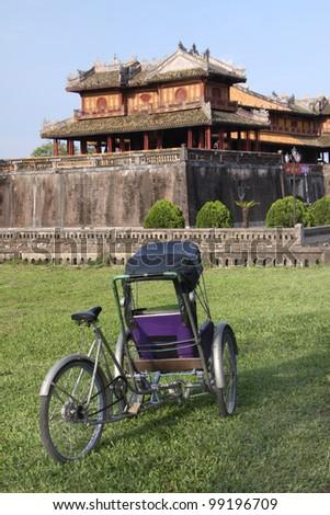 The Flag Tower - The Citadel - Forbidden Purple City - Hue Vietn Stock photo © jeayesy