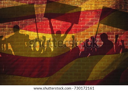rally in support for the independence of Catalonia in Barcelona, Stock photo © nito