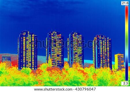 Infravermelho imagem falta isolamento residencial Foto stock © smuki