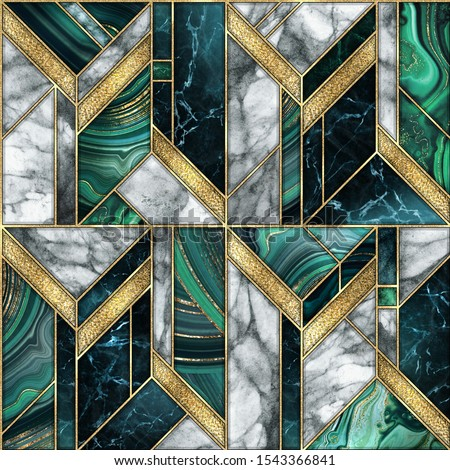 бесшовный треугольник зеленый золото роскошь шаблон Сток-фото © Galyna