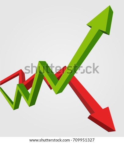 Red Bear Down Arrow. Exchange Trader illustration. Business conc Stock photo © popaukropa