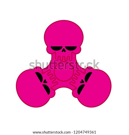 Spinner Bones Fidget finger toy. Halloween Anti Stress Hand Toy  Stock photo © MaryValery