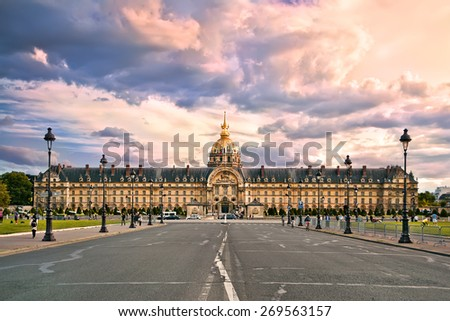Hotel national des Invalides or The National Residence of the In Stock photo © tuulijumala