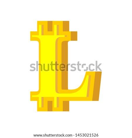 手紙 bitcoinの フォント アルファベット バーチャル お金 ストックフォト © popaukropa