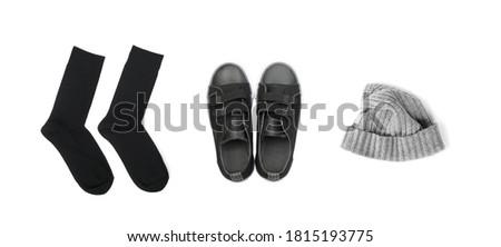 De punto calcetines ropa frío tiempo vintage Foto stock © popaukropa