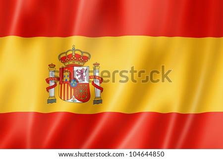 zászló · Spanyolország · spanyol · zászló · 3D · renderelt · kép - stock fotó © Wetzkaz