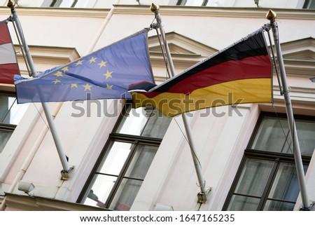 Foto stock: Bandeiras · europeu · união · bandeira · europa · país