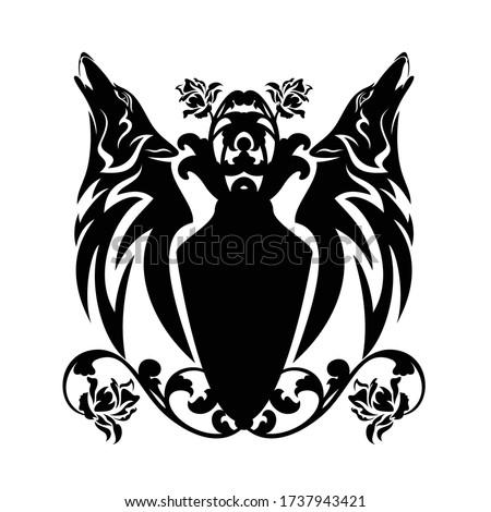 волка · щит · символ · оборотень · лес · хищник - Сток-фото © maryvalery