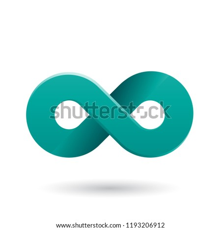 Persian Green Shaded and Thick Infinity Symbol Vector Illustrati Stock photo © cidepix