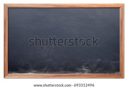 Blackboard background and wooden frame, rubbed out dirty chalkboard, vector illustration Stock photo © olehsvetiukha