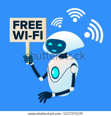 Libre wifi robot vecteur isolé illustration Photo stock © pikepicture
