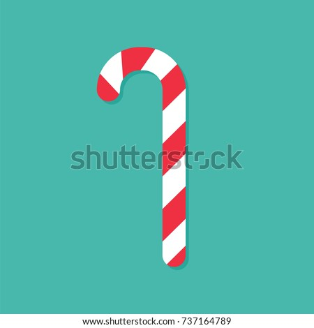 Christmas Cartoon Icon - Red Candy Cane Stock photo © nazlisart