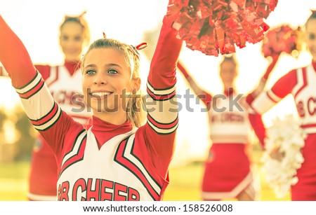 school girl Red jersey_sns Stock photo © toyotoyo