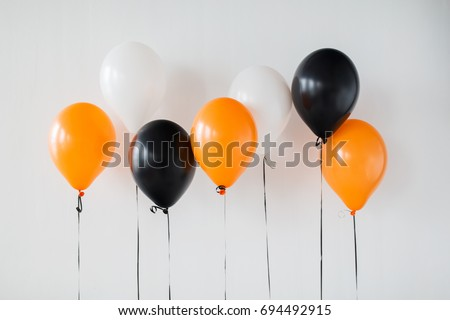 halloween · partij · ballonnen · zwarte · vakantie · decoratie - stockfoto © dolgachov