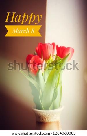 幸せ 女性の日 バナー 赤いバラ 赤 白 ストックフォト © MarySan