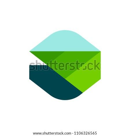 Modernes géométrique logo modèle icône Photo stock © ussr