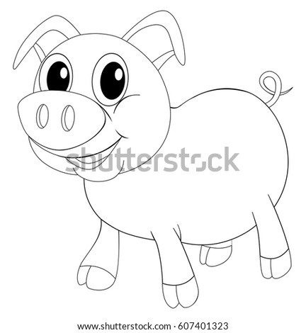 Doodles drafting animal for pig Stock photo © colematt