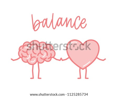 Pair of hearts holding hands. Concept of friendship love support and help. Love or helth symbol. Don Stock photo © ESSL