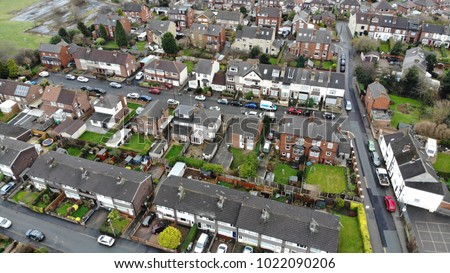 антенна фотографии улице Крыши дороги автомобилей Сток-фото © artjazz