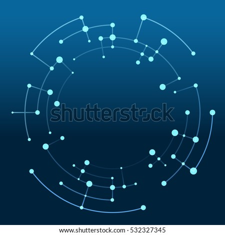 Abstract pattern of rounded lines and dots with space for text Stock photo © designleo