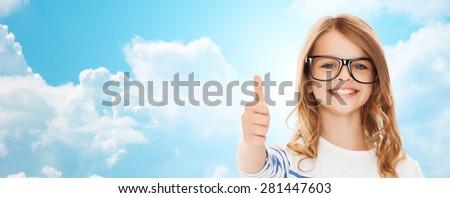 девочку · черный · очки · образование · школы · видение - Сток-фото © dashapetrenko