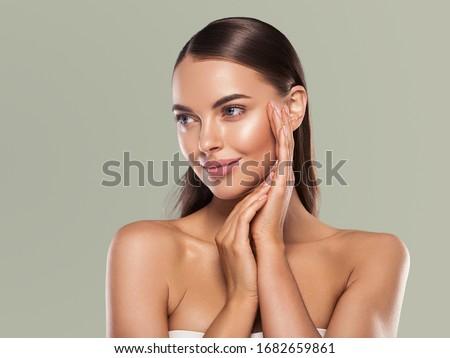 красоту · уход · за · кожей · люди · улыбаясь - Сток-фото © serdechny