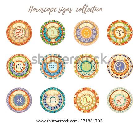 Air Signs Zodiac Libra, Gemini, Aquarius. Vector zentangle object for decoration Stock photo © Natalia_1947