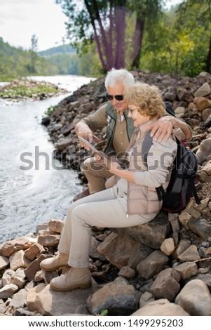 twee · actieve · senioren · glimlachend - stockfoto © pressmaster