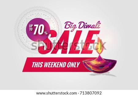 Diwali venta banner brillante púrpura dorado Foto stock © SArts