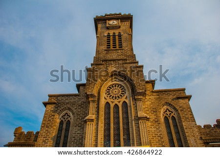 católico · catedral · torre · edifício · arquitetura · religião - foto stock © galitskaya
