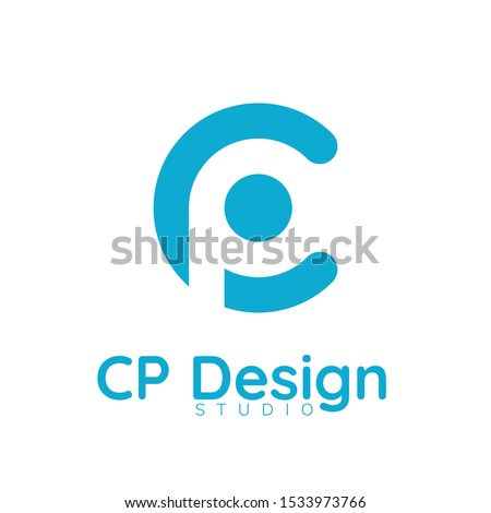 CP company group linked letter logo design. Stock vector illustration isolated on white background. Stock photo © kyryloff