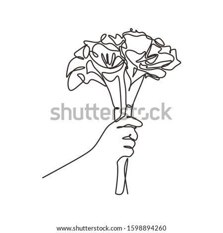 роз стилизованный букет стороны рисунок Сток-фото © ESSL