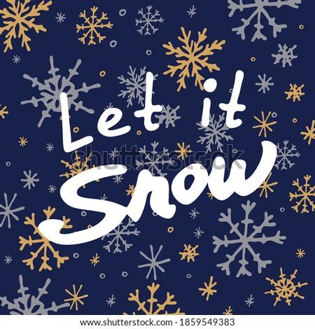 Sneeuw donkere poster kaart Stockfoto © masay256