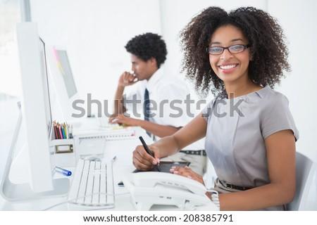 側面図 小さな 男性 かなり 混血 女性 ストックフォト © wavebreak_media
