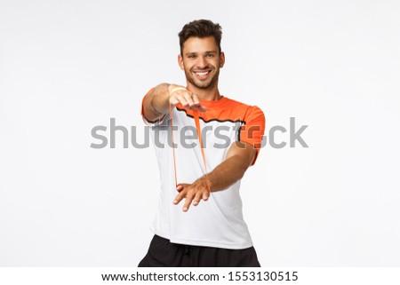 Charyzmatyczny mężczyzna fitness instruktor uczyć Zdjęcia stock © benzoix