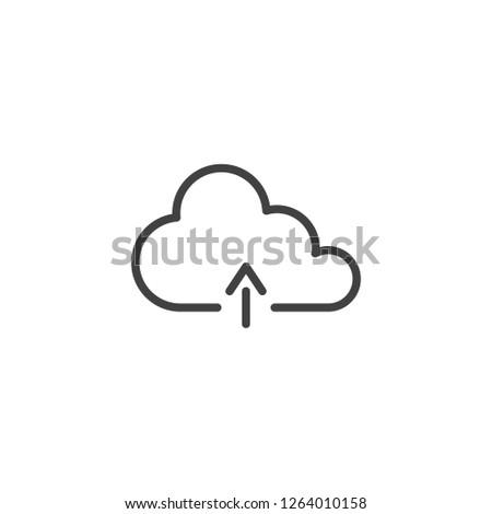 ダウンロード アップロード 雲 行 アイコン リニア ストックフォト © kyryloff