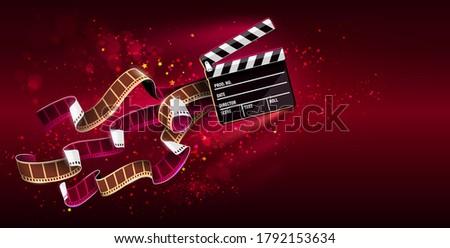 Kina film pływające przestrzeni gwiazdki Zdjęcia stock © LoopAll