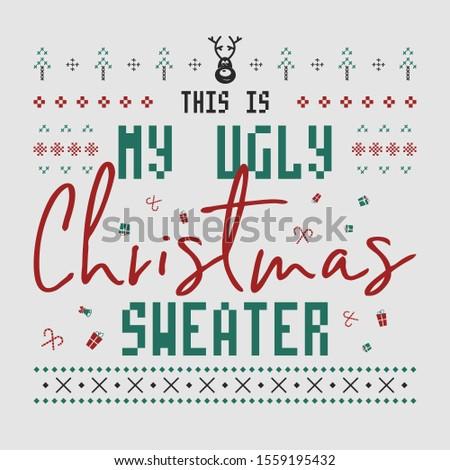 смешные Рождества графических печать дизайна уродливые Сток-фото © JeksonGraphics