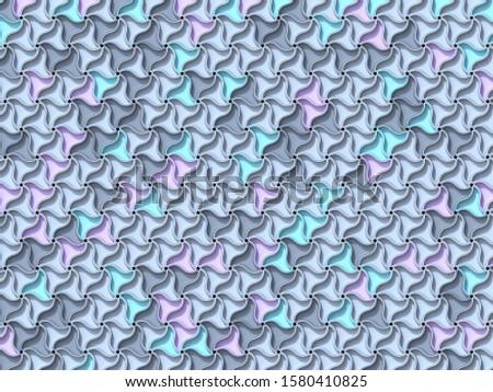 Abstrato geométrico quatro pastel cor 3d render Foto stock © djmilic