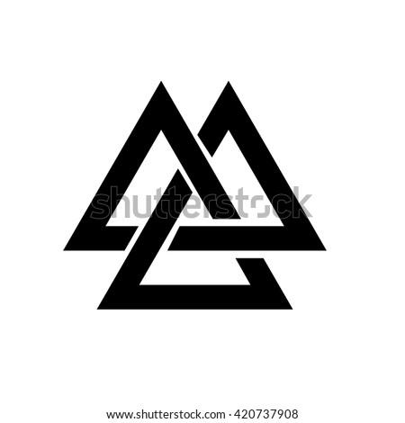 Pyramid Triangle geometric logo design. Sacred minimal Gemetry. Transition effect. Corporate identit Stock photo © kyryloff