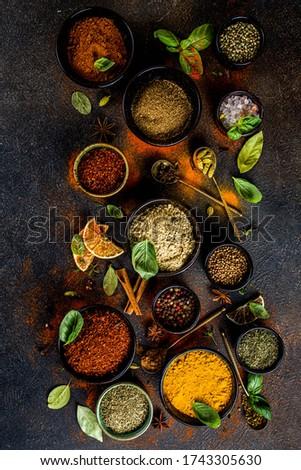 Banner kleurrijk specerijen tabel houten Stockfoto © Illia