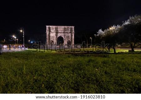Arc Rome Italie construction art bleu Photo stock © Zhukow