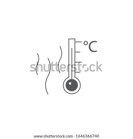 hot surface, Temperature thermometr with celsius scale icon. Stock Vector illustration isolated on w Stock photo © kyryloff